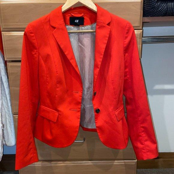 H&M bright red blazer